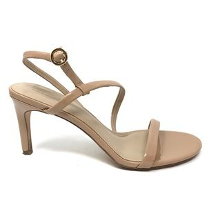 Enzo Angiolini Sz 11 Strappy Sandals Nude Patent